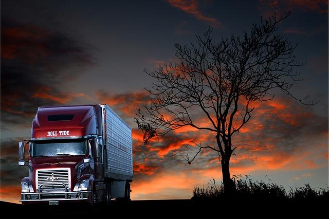 kamion v krajině